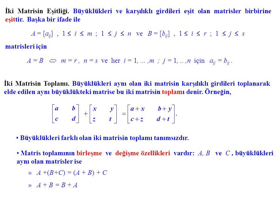 A = [aij] , 1  i  m ; 1  j  n ve B = [bij] , 1  i  r ; 1  j  s